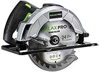 GALAX PRO Circular Saws, 1200W 5800 RPM, Bevel Angle(0 to 45°) Joint Cuts with 185mm Blade, Adjustable Cutting Depth for W...