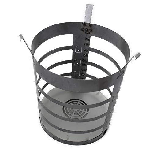 XXL Feuerkorb für Feuertonne Stahlfass Feuer Korb Feuerplatte Grill BBQ #181