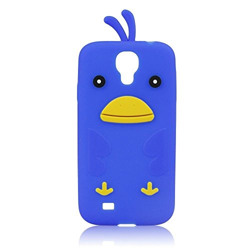 Carcasa de silicona 3D de pájaro azul para Samsung Galaxy S4 SIV LTE + (i9506) diseño de carcasa colour