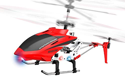 RC TECNIC Juguetecnic Helicóptero Teledirigido para Niños Phantom con Baterías Recargable Emisora 2.4 GHz de 3.5 Canales 22 cm de Longitud Vuelo Interior / Exterior, Especial Iniciación (Rojo)
