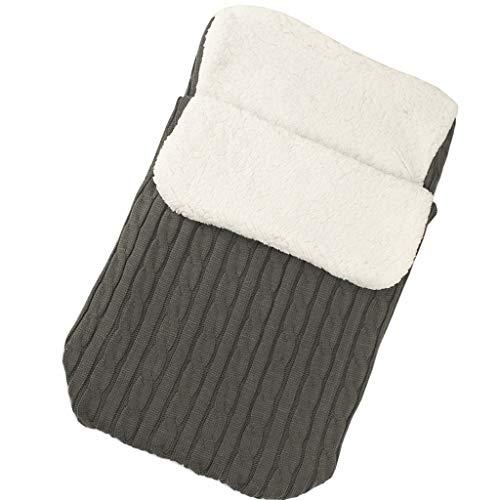 Luccase Babyschlafsack 14,17 × 26,77 '' Acrylfasern und Baumwolle Baby Hooded Swaddle Knit Wrap Warme Decke Kinderwagen Schlafsack Steppdecken für 0-12 Monate Baby (Armeegrün)