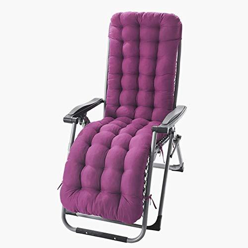 61-Inch Lounge Chair Kissen Indoor Outdoor Chaiselongue Kissen Liegekissen Schaukelstuhl Kissen Sofakissen Tatami Matte Fenster Sitzkissen,Rosarot