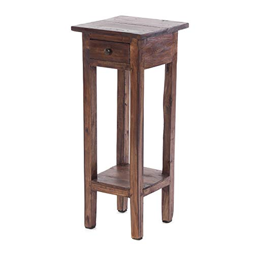 Design delights tavolino Napoleone | 29.5x 12x 12, marrone | supporto per fiori