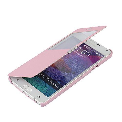 MTRONX para Funda Samsung Galaxy Note 4, Cover Carcasa Case Caso Ventana Vista...