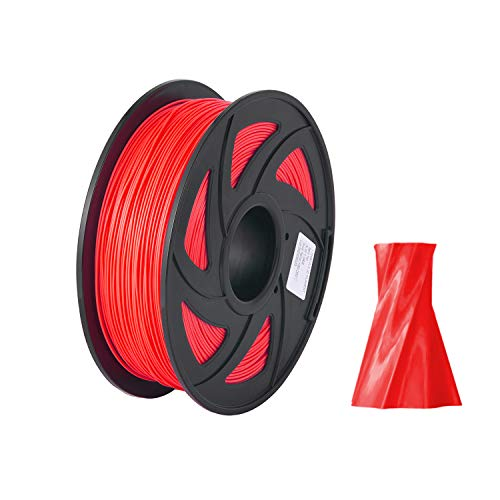 RanRotoy Normal PLA 3D Printer Filament Eco-Friendly Printing Consumables 1.75mm Diameter 1kg(2.2lbs) Spool Dimensional Accuracy +/- 0.05mm Red