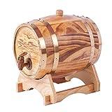 Yimihua Barril de Vino 1.5L Oak Barrel, Oak Whisky Barrel Aging Barrel, Adecuado for Bar, Decoración de Bodas for Hacer Vino