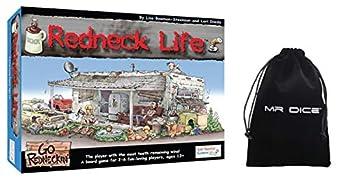 Redneck / Red Neck Life Board Game Bundle with Mr Dice Drawstring Bag
