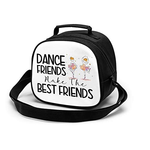 WORUIJIA The Best Dance Friends Children'S Meal Bag Waterproof Reusable Food Storage Lunch Tote Bag Keep Warm Shockproof Ice Pack Insulated Picnic Bag For Boys Girls