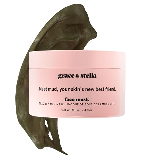 Dead Sea Mud Mask (120ml) - Vegan Purifying Dead Sea Mask - Mud Masks For Face And Body Mask - Mud Face Mask To Clear Pores by grace and stella