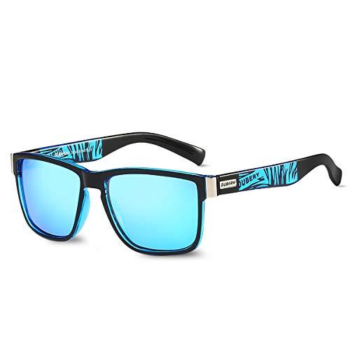 LumiSyne Gafas De Sol De Hombre Mujer Polarizadas UV400 Vintage Marco Cuadrado Templos Tortuga Estilo Deportivo Con Funda De Gafas Para Conducción Al Aire Libre Viajar
