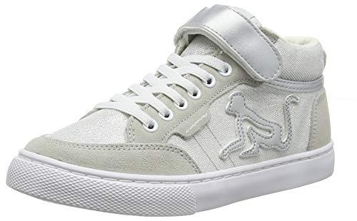 DrunknMunky Boston Mid, Sneaker a Collo Alto Bambine e Ragazze, Argento (Silver B60), 32 EU