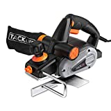 Planer, TACKLIFE Electric Hand Planer, 6-Amp 3-1/4-Inch, 16500Rpm, with 5/64 inch Adjustable Cut Depth, Dual Exhaust Ports, Switch, Parallel Fence Bracket, Ideal Planer Woodworking - EPN01A