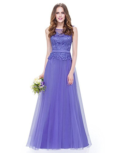 Mingxuerong Haute - Couture - kleid brautjungfernkleid ballkleid (54, Blau)