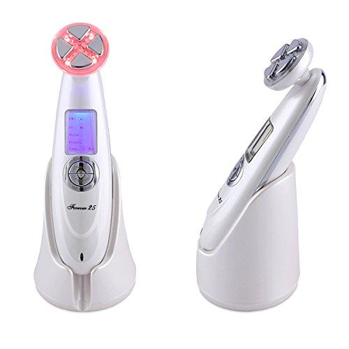 Forever25 Kosmetisches Geraet für Gesicht, RF Frequenz Lifting, ION, Massage, Nadelfreie Mesotherapie, Falten, Antiaging, EMS Muskelstimulation