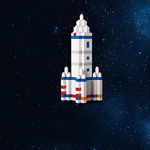 Bloques PUCQ de pequeñas partículas Bloques pequeños de partículas miniaturizadas para decoración de Habitaciones e interacción niño Padre espatial Roaming Series-Astronauta-Cohete con tripulación