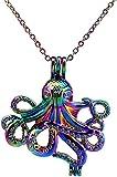 NC122 Arcobaleno Color Ocean Medusa Octopus Bead Cage Collana Pendente Aroma Olio Essenziale Diffusore Collana Medaglione
