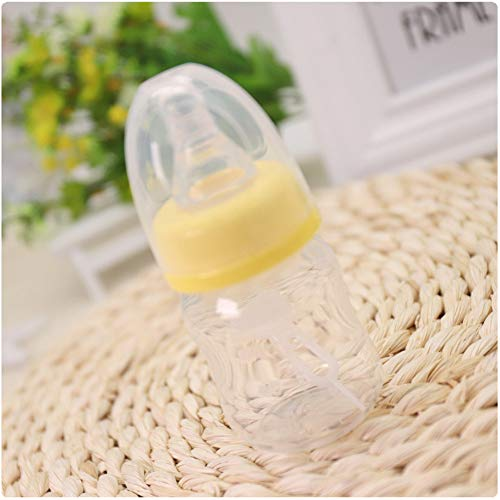 Lowest Prices! YTGOOD Baby 60ml Standard Caliber Milk Feeder Juice Feeder Mini Bottle Yellow