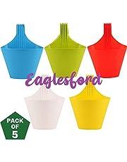 EaglesFord Plastic Hanging Vertical Hook ,Multicolor Pack of 5