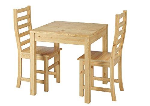 Erst-Holz Ensemble Table à Manger et 2 chaises, en pin Massif Naturel 90.70-50A-Set21