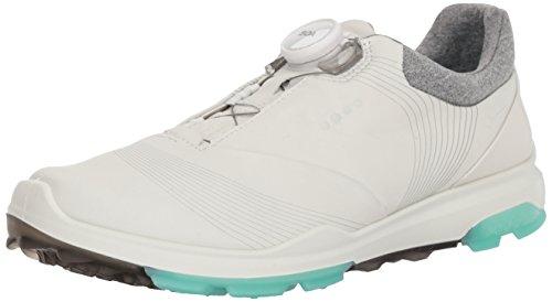 ECCO Damen Biom Hybrid 3 BOA Gore-Tex Golfschuh, Weißes smaragdfarbenes Yakleder, 40.5 EU