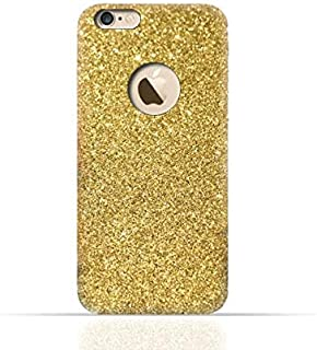 جراب سيليكون TPU لهاتف Apple iPhone 6 Plus/6 Plus S مع طبقة مزدوجة لامعة ذهبية