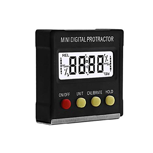 Abcidubxc Instrumento de medición del nivel de la pendiente, mini transportador magnético del inclinómetro digital de la exhibición electrónica
