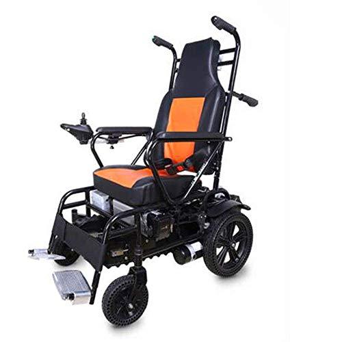 Elektro-Rollstuhl Treppen Rollstuhl Lüftungsventilator Sitzkissen rutscht Nicht Glatt Stoßdämpfend Elektro-Handbuch Dual-Use-Sicherheit für ältere Menschen Im Obergeschoss Klettermaschine,Orange