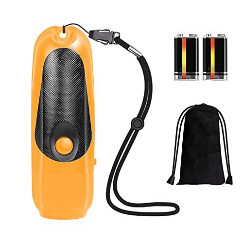 LIRONGXILY Silbato de supervivencia de emergencia, silbato electrónico de supervivencia, silbato de emergencia, 125 dB, 3 tipos de volumen ajustable para árbitro (color: naranja)