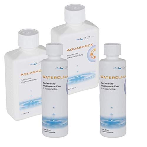 STRICKER Pflegeset für Wasserbetten - 2 x Waterclean 250ml und 2 x Aquashock 250 ml