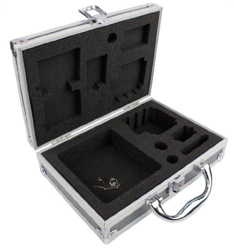 DURAGADGET Mallette de Transport en Aluminium Personnalisable pour caméra Enfant VTech Kidizoom Action Cam - Qualité Cadenas Inclus