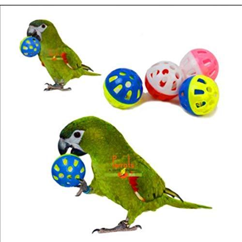 TOSSPER 1pcs Loro del pájaro del Juguete Hueco Bola de Bell para Cockatiel Parakeet diversión del Chew Toys Jaula Color al Azar