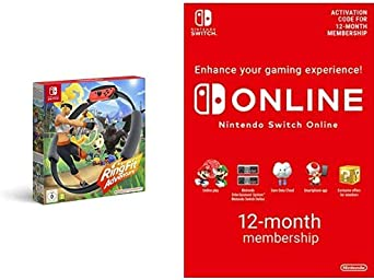 Ring Fit Adventure (Nintendo Switch) + Online Membership - 12 Months (Download Code)