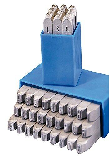 Gravurem 10710000 Schlagzahlen und -buchstaben 0-9 und A-Z,& (Kombination) in Schrifthöhe 10mm