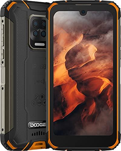 Rugged Smartphone, DOOGEE S59 Cellulare Antiurto 10050mAh Super Batteria, 4GB + 64GB, Altoparlante da 2W, 5,71 Pollici HD+, 16MP Quad Fotocamera, 4G Dual SIM Android 10 Telefono Robusto, IP68/GPS/NFC