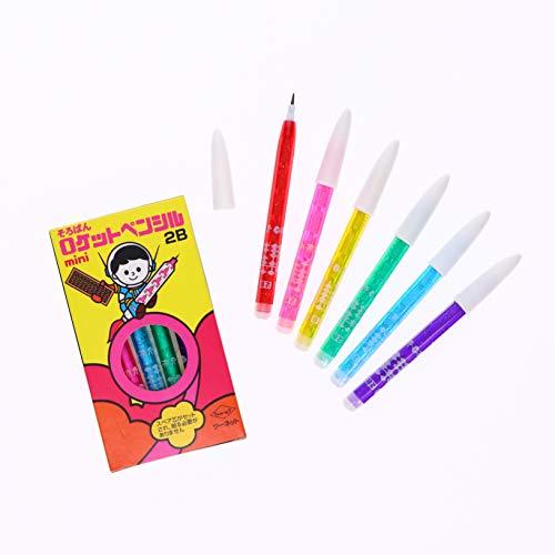 ミニ そろばん ロケット鉛筆 ロケットペンシル 1箱6本入り 6箱セット (2B)