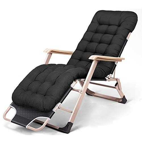 qwert Chaise Lounges portátil Extensible Plegable Zero Gravity Silla Lounge reclinable Office Patio con cojín para Silla Soporte portátil Ajustable 330 LBS