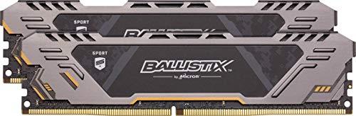 Crucial Ballistix Sport at 3000 MHz DDR4 DRAM Desktop Gaming Memory Kit 16GB (8GBx2) CL17 BLS2K8G4D30CESTK