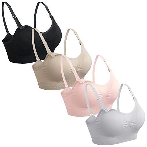 Maternity Nursing-Bra-for-Breastfeeding-Maternity-Bras-Push-Up-Silk-Seamless-Pregnancy-Bralette-Underwear-Black-Beige-Grey-Pink-Large