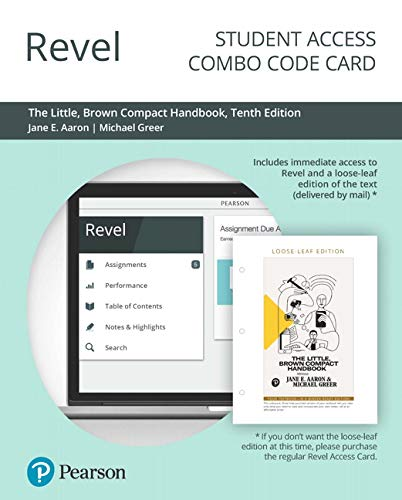 Revel for The Little, Brown Compact Handbook -- Combo Access Card