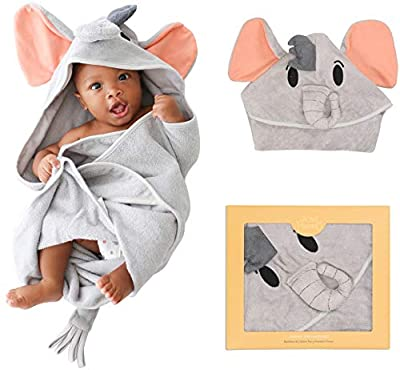 Posh Peanut Baby Hooded Towel – Highly Absorbent Cotton Infant Towel for The House, Beach, Pool – Super Soft Newborn Drying Bath Towel – Great Baby Shower Gift Idea