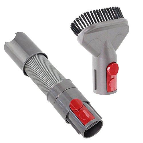 Spares2go Quick Release allungabile flessibile + Dirt Brush Tool for Absolute cordless aspirapolvere Dyson V10SV12Cyclone
