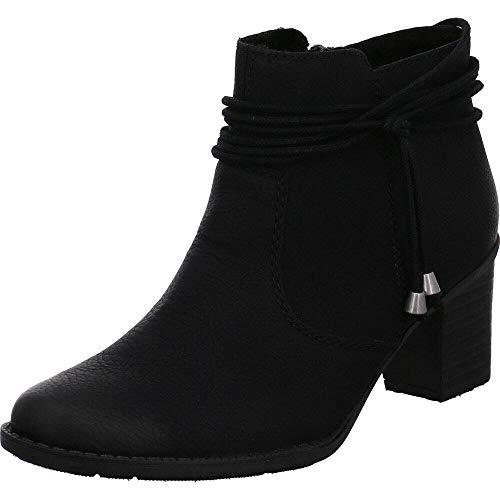 Rieker Damen Stiefeletten L7669, Frauen Ankle Boots, Frauen weibliche Lady Ladies feminin elegant Women's Women Woman,schwarz,39 EU / 6 UK