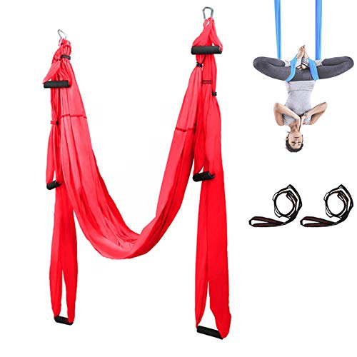 G-FLOOR-MAT Aerial Hammock, Sensory Swing-Cuddle Therapy Hammock Ideal for Sensory Needs/Autism/ADHD/SPD,red