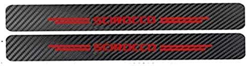 Anti-Kratz-Platte für Autoschwelle für Passend für 2 Stück Externe Carbon-Faser-Leder-Auto Kick-Platten Pedal for Volkswagen Scirocco, Einstieg Willkommen Pedal-Tritt Scuff Threshold Bar