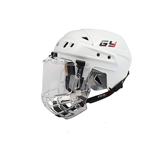 GY PH08-C8 - Casco de Hockey sobre Hielo, Color Blanco, tamaño S/M(54-58cm)
