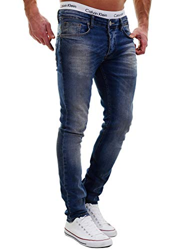 MERISH Jeans Herren Slim Fit Jeanshose Stretch Designer Hose Denim 501 (33-34, 501-3 Denim)