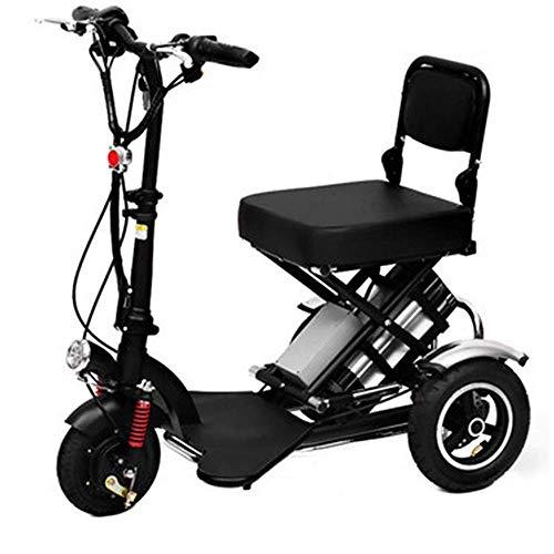 CYGGL Mini Triciclo Eléctrico Plegable para Ancianos Y Discapacitados, Motor 350W - Peso Corporal 23KG - Carga 120KG - Kilometraje Máximo 40Km- Calle Legal