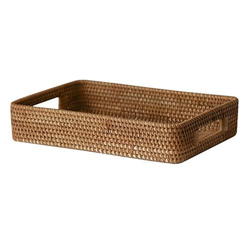 Electric oven Basket Stockage tressé - Plateau à la Main rectangulaire avec poignée, Panier de Rangement de Pain de Fruit pour Salle à Manger, Salon et Cuisine (Taille : L)