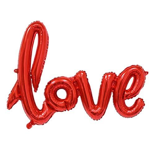 G&M Folienballon Love Rot Schriftzug Luftballon 54cm Valentinstag Liebesbeweis Deko