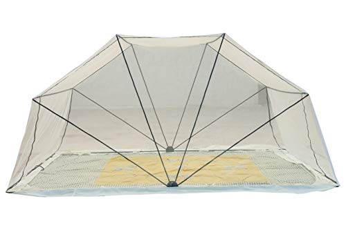 Comfort Mosquito Net Foldable Poly Cotton Mosquito Net (3 x 6 Ivory- Single Bed Size)